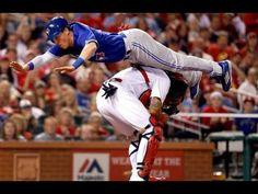 MLB Crazy Home Slide Chris Coghlan Trolls Yadier Molina, Toronto Blue Ja...