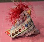 Selvage or Funky Chicken Pincushion