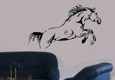 Springendes Pferd Wandaufkleber