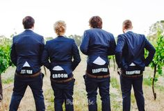 Great photo of Lisa's boys featuring our groom, bestman and groomsman boxers. Great gift and photo idea for the grooms party www.bridetribes.com.au
