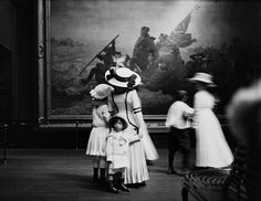 The Met's digital archive documents the Museum as it has expanded and changed over time. In this blog post and slideshow, explore how the Museum's mission to encourage and develop the study of the fine arts inspired a record amount of visits in 1912 from schoolchildren and teachers. | The Metropolitan Museum of Art, Paintings Galleries; View of groups of children, and a mother and daughter in front of Leutze's George Washington Crossing the Delaware (97.34). Photographed July 10, 1905.