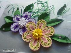 Master class Quilling Paper quilling flower MK band photo 1