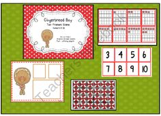 Gingerbread Boy Ten Frames Game from Can Do Kinders on TeachersNotebook.com (10 pages)