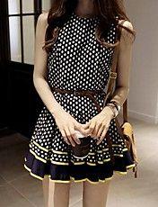 Women's Wave Point Chiffon Bodycon  Dress – USD $ 20.29