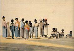 Louise van Panhuys geboren von Barckhaus-Wiesenhütten (1763-1844). Tanz der Haussklaven vermoedelijk van de plantage Nut en Schadelijk