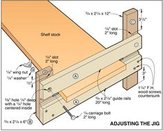 Exact-Width Dado Jig.  Cut dadoes to the desired width with the help of this handy shop aid.
