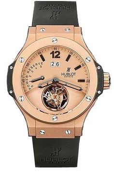 Hublot Big Bang Champagne Dial 18kt Rose Gold Black Rubber Automatic Mens Watch 302PI500RX