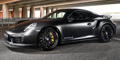 Matte Black Porsche 911 Turbo S by MM-Performance