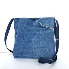 Pequeña bandolera bolso del mensajero del jean azul de
