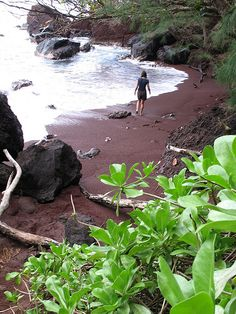 Red Beach Near Hana Maui, Hawaii. When we were there we were told by a local that this is a must see place...this time we definitely will see it