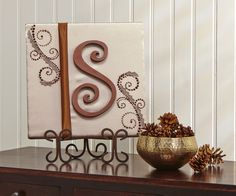 FloraCraft® Monogram Wall Art #christmas #craft