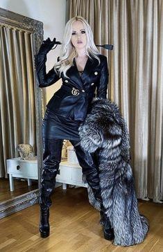 Fox Fur Coat, Fur Coats, Thigh High Boots Heels, Independent Women, Coats For Women, Sexy Women, Lady, Fur Jackets, Punk Girls