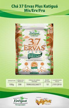 Chá 37 Ervas Plus Katiguá Misto de Ervas e Frutas 120gr