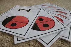 Playing House: Ladybug Counting (Printable)