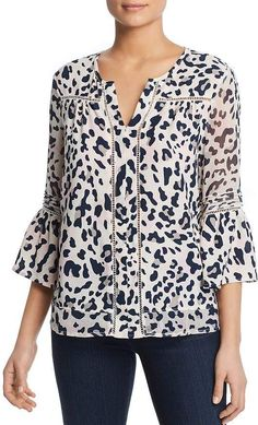 Beautiful Single Thread - Animal Print Blouse Womens fashion Tops from top store Blusas Animal Print, Animal Print Blouse, Stitch Fit, Business Casual Outfits, Comfy Casual, Blouse Online, Matching Outfits, Western Wear, Printed Blouse