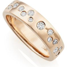 18ct Rose Gold Scattered Diamond Ring