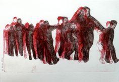 "Saatchi Art Artist Myriam Dib; Printmaking, ""Collective trauma"" #art"