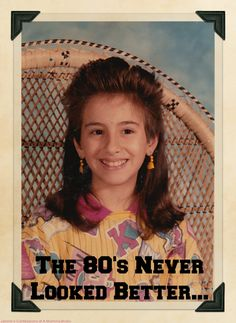 Were you a child of the #1980s?  Then you can relate that The 80s Never Looked Better!!