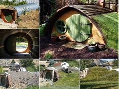 Shed Plans - How to make a Hobbit Hole Tutorial - Now You Can Build ANY Shed In A Weekend Even If You've Zero Woodworking Experience! Modern Playhouse, Garden Playhouse, Build A Playhouse, Playhouse Ideas, Hobbit Playhouse, Fence Garden, Easy Garden, Dog Houses, Play Houses