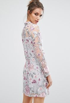 Fact: mesh doesn't always mean risqué. And now, you can dress in sheer on the classiest of days with this sassy floral dress. The best part? Saving on the trophy piece means you can add in a pair of matching grey heels and a pop-of-colour clutch