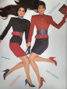 Christy & Paulina for GIANNI VERSACE 1988