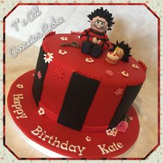 Dennis the menace cake 8th Birthday, Happy Birthday, Birthday Cakes, Birthday Ideas, Occasion Cakes, How To Make Cake, Cake Pops, Birthdays, Cake Making