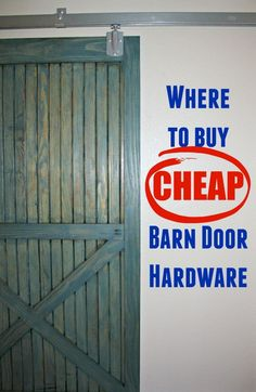 DIY barn door can be your best option when considering cheap materials for setting up a sliding barn door. DIY barn door requires a DIY barn door hardware and a Cheap Barn Door Hardware, Cheap Barn Doors, Sliding Barn Door Hardware, Sliding Doors, Door Latches, Gate Hardware, Window Hardware, Closet Doors, Garage Doors