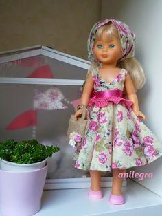 ANILEGRA COSE PARA NANCY American Doll Clothes, Girl Doll Clothes, Barbie Clothes, Sewing Clothes, Girl Dolls, Vestidos Nancy, Nancy Doll, Lifelike Dolls, Kool Kids