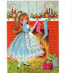 Vintage Christmas Greeting Card- Act l- Mod 1970s