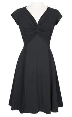 new style cf220 07b47 Twist dress - Black - A nice everyday dress made from Eco cotton