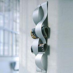 Magazine rack for the kitchen  BAIRES Deco & Design ... Diseño de Interiores, Arquitectura y Decoración en un solo Sitio!: Revistero de pared diseño ondulado de Rosendahl