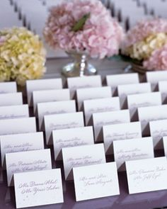 """See the """"Lovely Lavender Seating Cards"""" in our  gallery"""