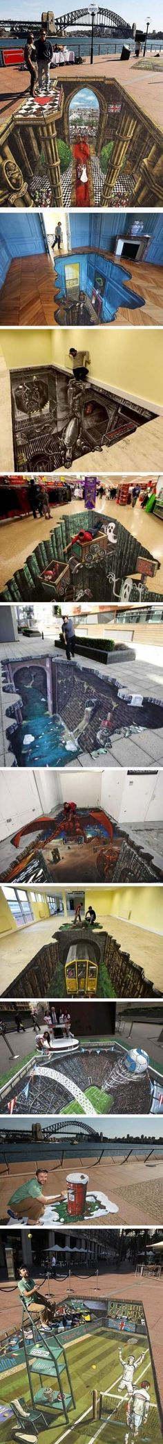 Top 10 3D pavement artworks