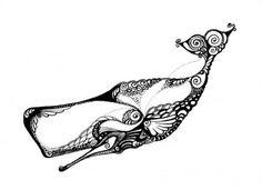 Sperm Whale by Irina Yezhova.