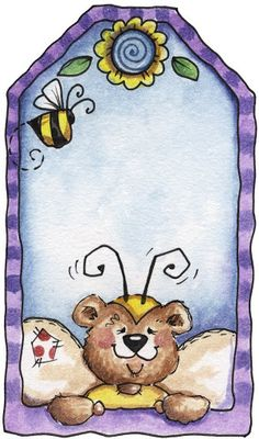 Bumbly Bears - Soma - Λευκώματα Iστού Picasa - cute as topper on kid's card Card Tags, Gift Tags, Envelopes, Bee Theme, Art Clipart, Printing Labels, Tole Painting, Card Making Inspiration, Cute Images