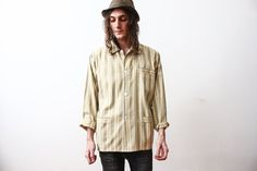 Vintage 1960s Pyjama Shit Striped Long Sleeve by ThePenduline