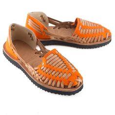 f3420ec39331 Women s Orange Woven Leather Huarache Sandals - Ix Style - Water For Children  Huaraches