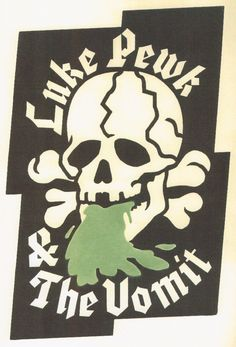 """In the 1980s our artist designed T-shirts, fliers, stickers, etc. for an obscure punk rock band from Salem (Roanoke), Virginia. This is one of several """"puking skull"""" T-shirt designs done in various themes. This one is Nazi themed (note the """"SS"""" outline). QUESTION: Should cocaine be legal? Vote in our poll and see the results- CocainePoll.com"""