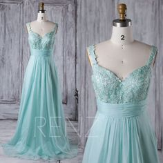 2016 Light Blue Chiffon Bridesmaid Dress, Lace Sweetheart Wedding Dress with Straps, Open Back Prom Dress, A Line Evening Gown Full (X061A)