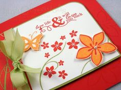 Cottage Garden set - Love the layering on this card