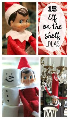 How many times have you had forgotten to move your Elf? Run out of clever ideas? Here are 15 fun Elf on the Shelf ideas to help you out this season!