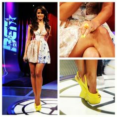 Rocsi's Runway look for 8.9.12 @Topshop dress @Rachel_Roy earrings  @GZanottiDesign shoes @daityejewelry ring #rocsi #fashion #106andpark #style