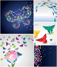 Origami butterfly and dolphin backgrounds. All images on the site vectorpicfree.com free for download and ready for print. We have over 10,000+ pictures.