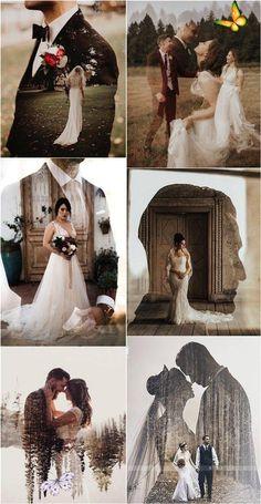 Wedding Trends 2020: Double Exposure Engagement & Wedding Photography Ideas -   - #AnimalPhotography #double #engagement #exposure #ideas #LandscapePhotography #photography #trends #wedding #WeddingPhotography<br>