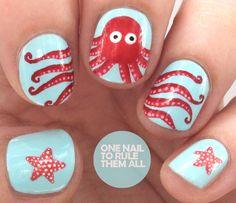 One Nail To Rule Them All: Octopus #nail #nails #nailart