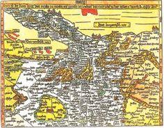 Le Vie dei Pellegrinaggi. Antica cartina d'Europa con l'intreccio delle vie dei pellegrinaggi Romei, Compostellani e Gerosolimitani, che hanno attraversato la Cristianità medievale
