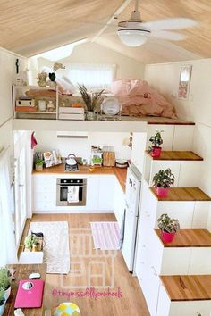 You know the tiny house movement? These little houses are one - You know the tiny house movement? These little houses are one - Tiny House Bedroom, Tiny House Living, Home Bedroom, Bedroom Ideas, Bedroom Small, House To Home, Tiny House Interiors, Loft House, Basement Bedrooms