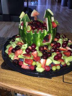 Princess Castle Watermelon fruit art