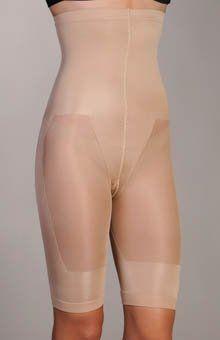 ShatoBu High Waist to Knee Calorie Burning Shaper 12701 Black or Nude (Tall Large, Nude) Advantage Bridal. $58.00