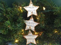 Star+Ornament+Christmas+Music+Ornament+by+AtHomeWithWords+on+Etsy